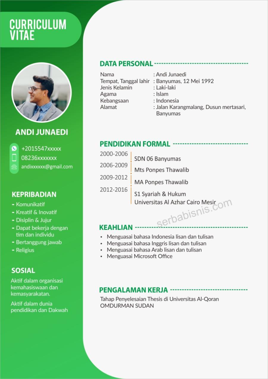 Desain CV Keren