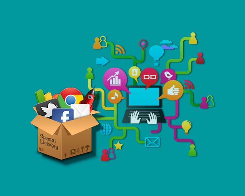 ilustrasi bisnis online marketing