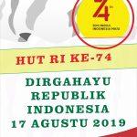 Baliho HUT RI Ke 74 2019