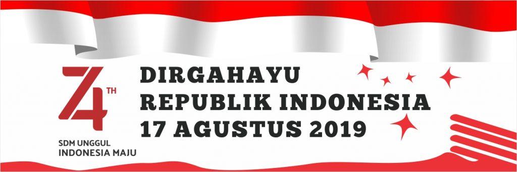 Banner HUT RI 74 2019