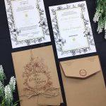 Desain Undangan Pernikahan Gaya Rustic