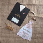 Undangan Pernikahan Unik Bentuk Jas Dan Gaun Pengantin