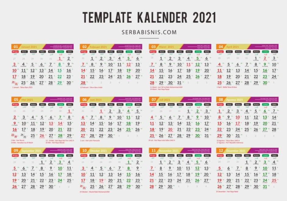 template kalender 2021