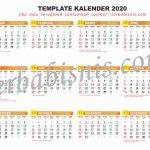 Template Kalender 2020 Coreldraw X7