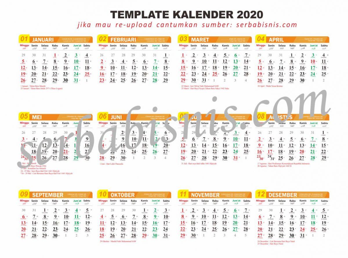 Template Kalender 2021 Corel X7 - Celoteh Bijak
