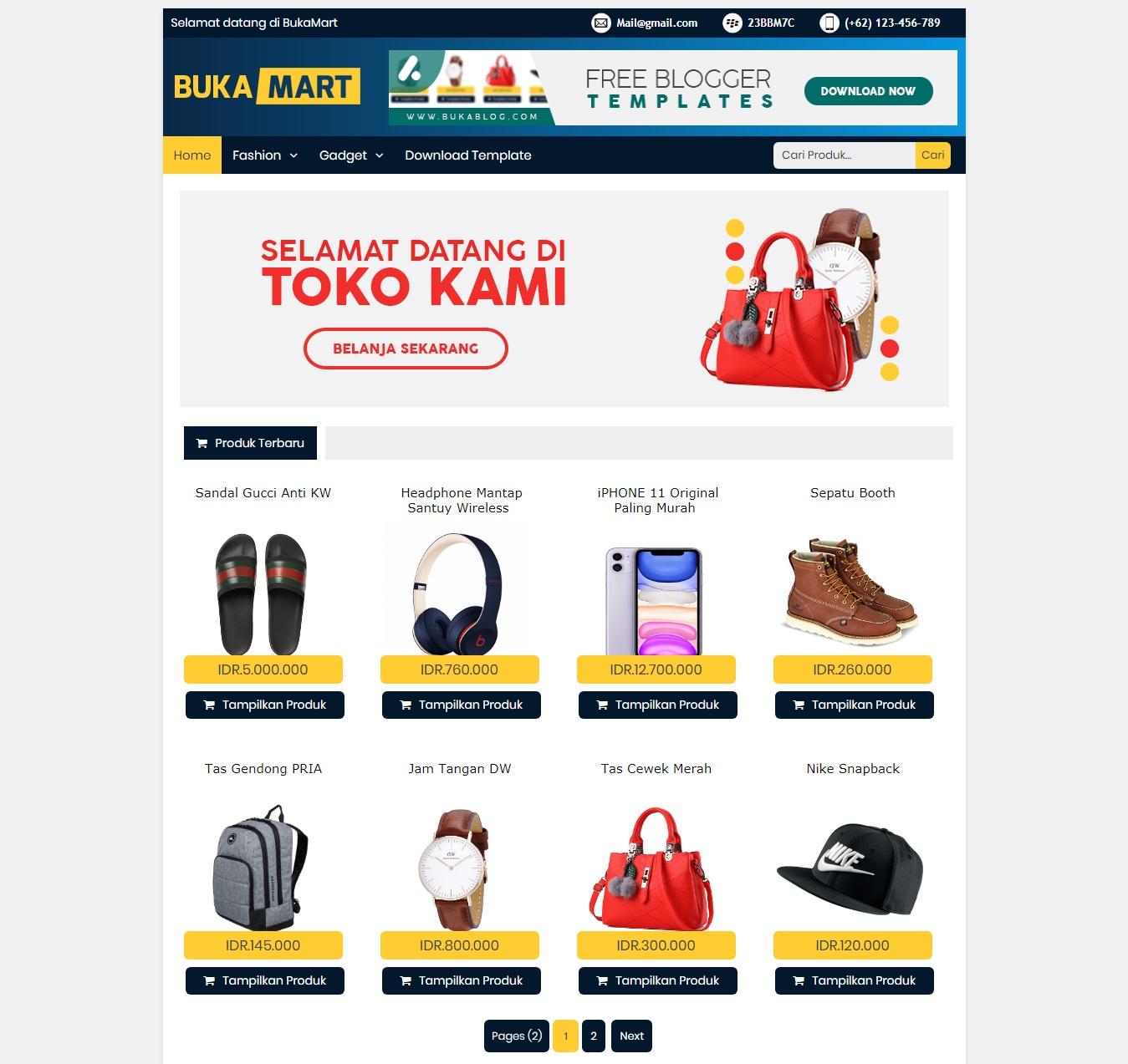 Template-toko-online-gratis-bukamart-blogspot