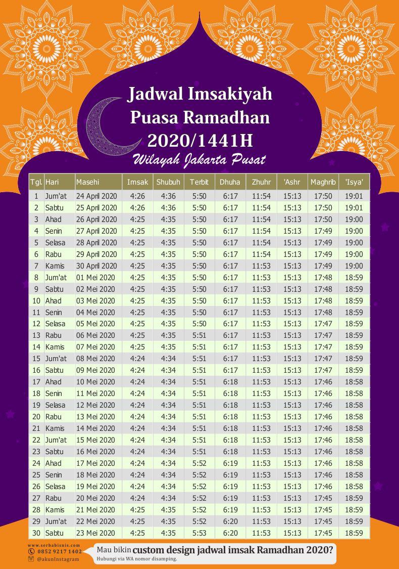 Jadwal-Imsakiyah-Puasa-Ramadhan-2020M - SerbaBisnis