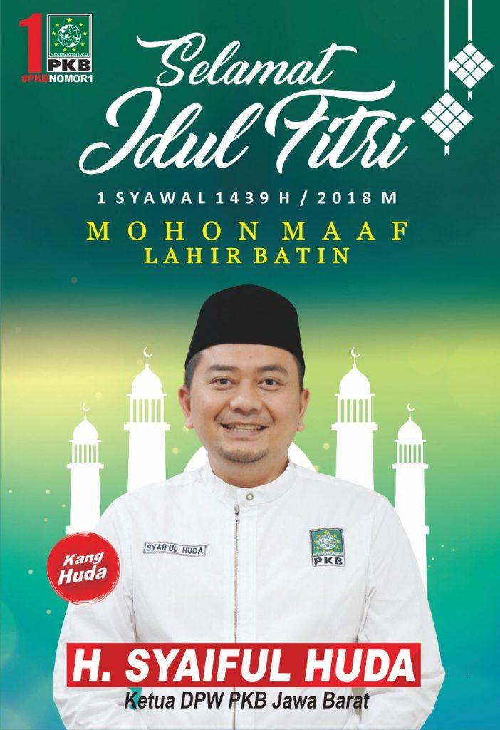 Baliho Idul Fitri PKB Jawa Barat