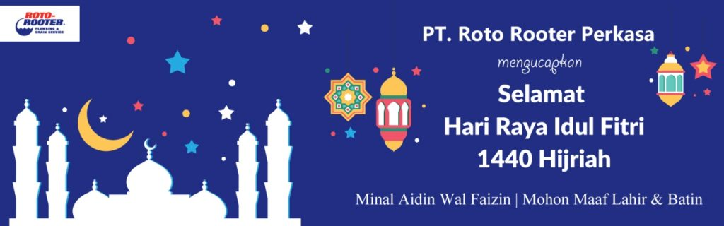 Banner Hari Raya Idul Fitri PT. Roto Rooter Perkasa