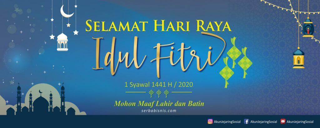 Banner Spanduk Idul Fitri 1441H serbabisnis.com