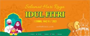 Banner Spanduk Idul Fitri 1442H 2021