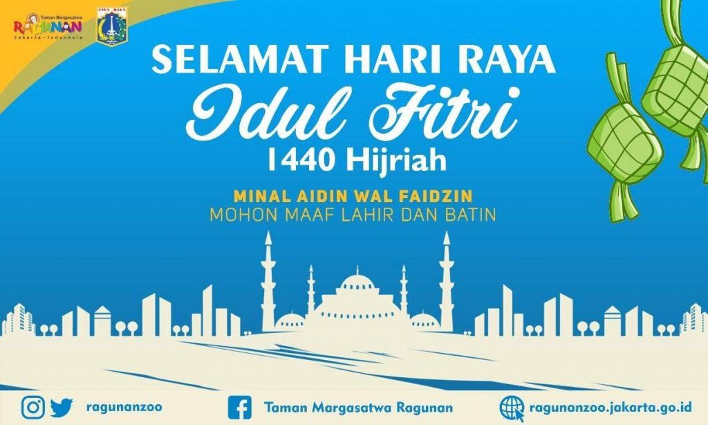 Banner Ucapan Hari Raya Idul Fitri @ragunanzoo