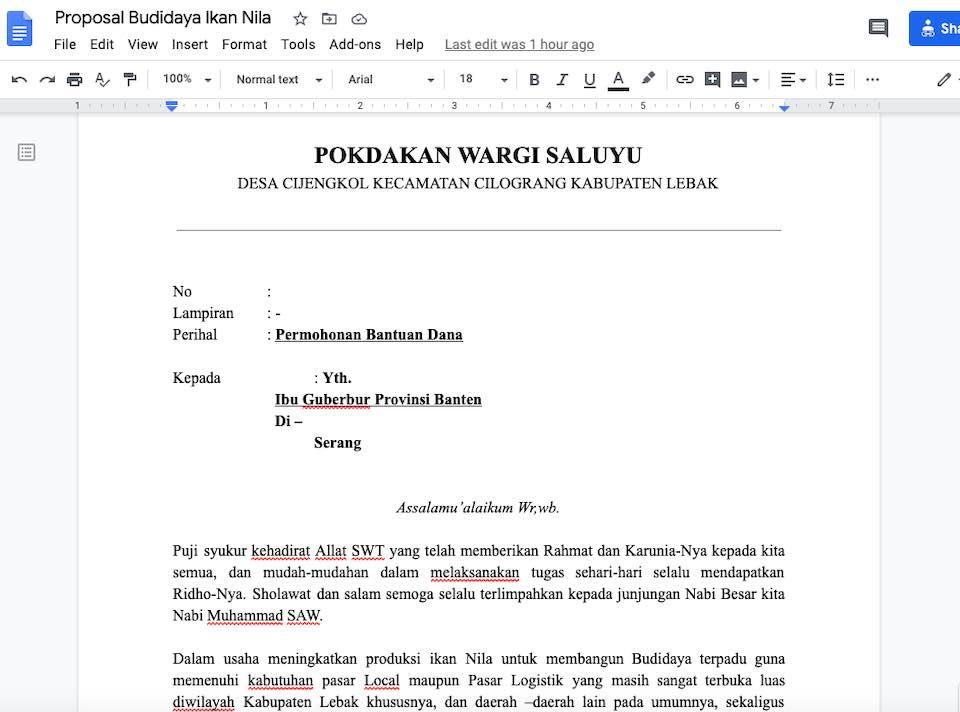 Gambar Contoh Proposal Bantuan Dana Budidaya Ikan Nila serbabisnis.com