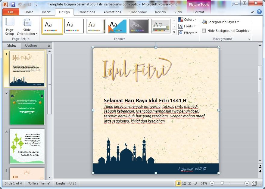 Template Ucapan Idul Fitri 2020