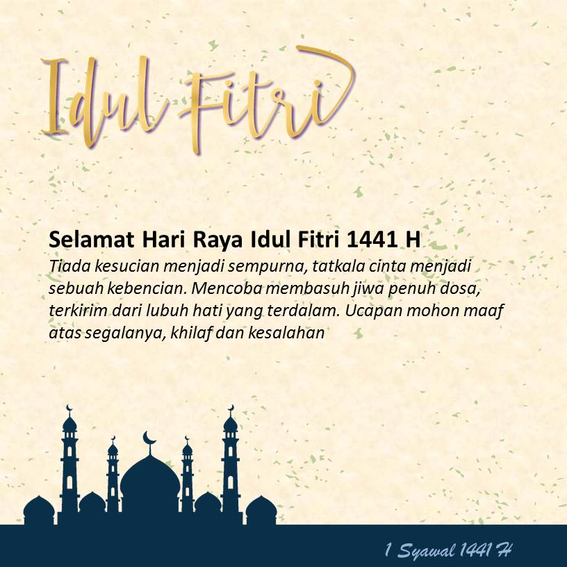 Template Ucapan Selamat Idul Fitri Slide1