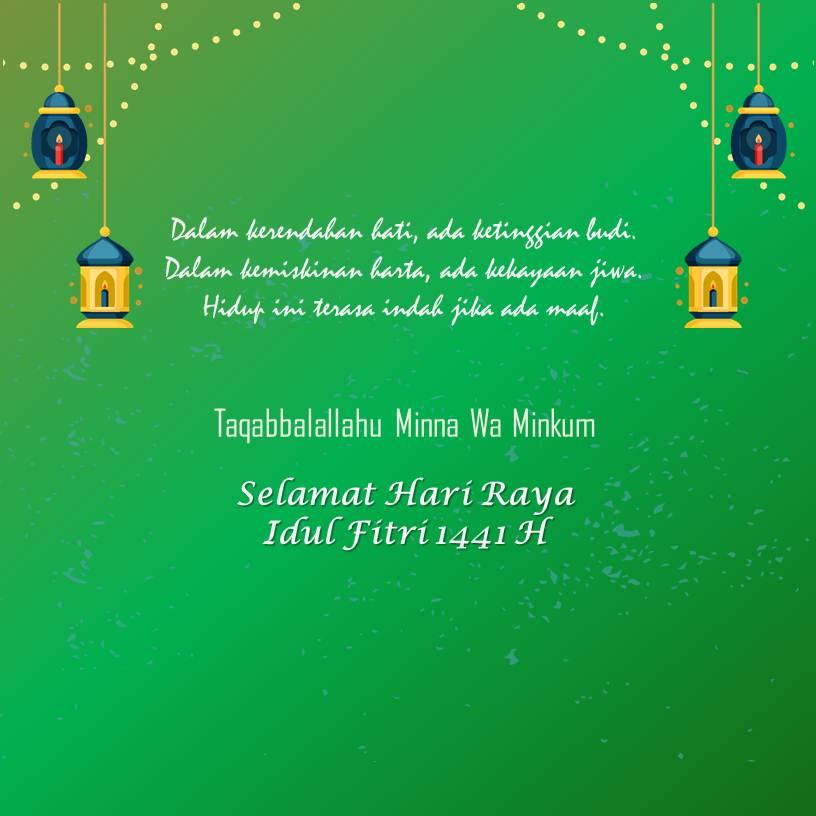 Template Desain Kartu Ucapan Idul Fitri