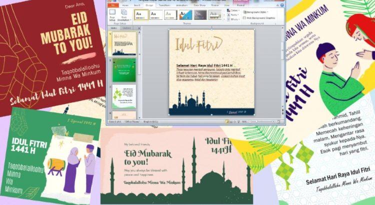 Template Desain Kartu Ucapan Idul Fitri - SerbaBisnis
