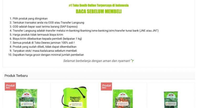 Website toko benih online