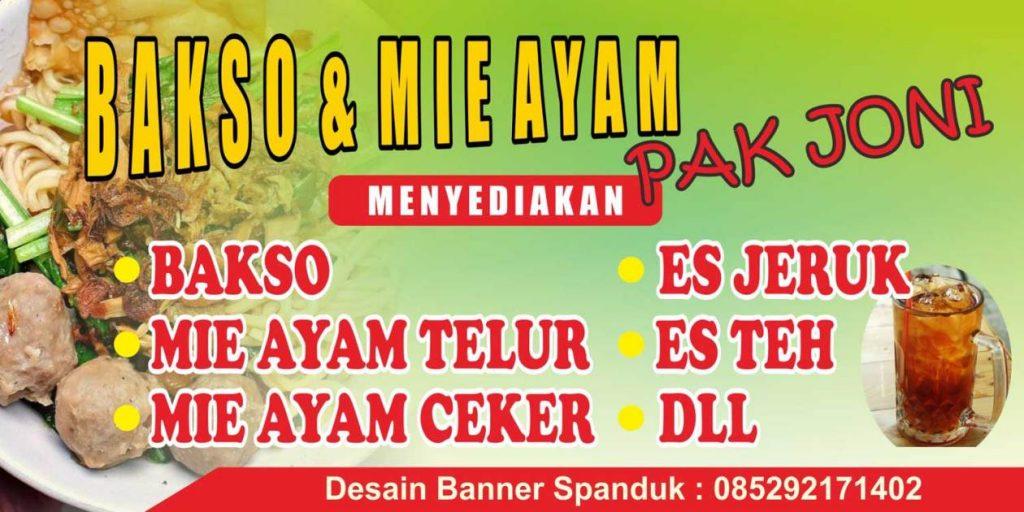 Contoh Spanduk Mie Ayam Ceker - gambar spanduk