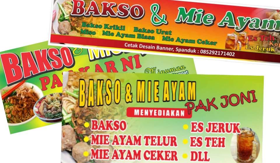 3+ Desain Banner Spanduk Bakso dan Mie Ayam cdr - SerbaBisnis