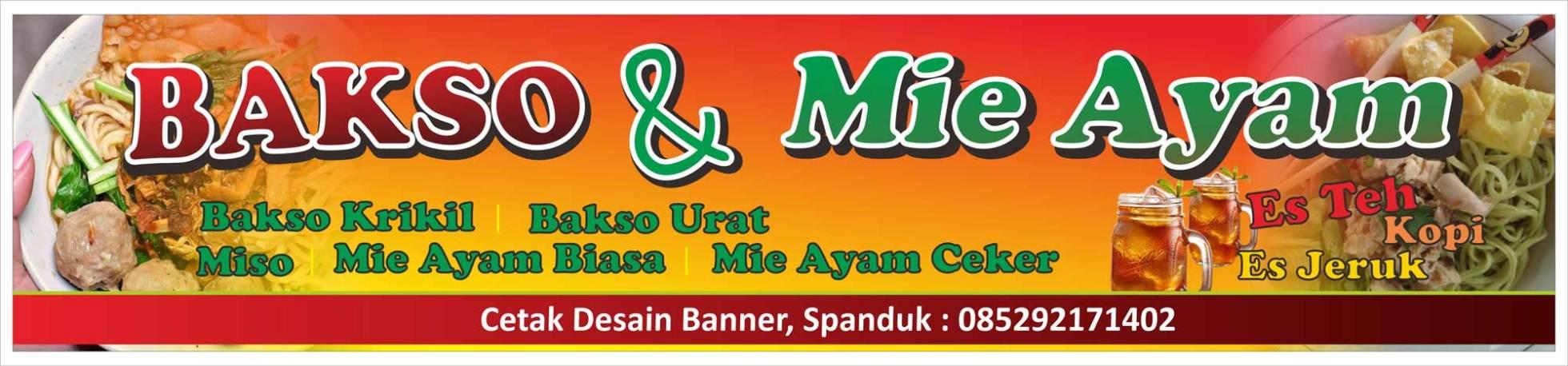 Contoh Banner Mie Ayam Dan Bakso - desain banner kekinian