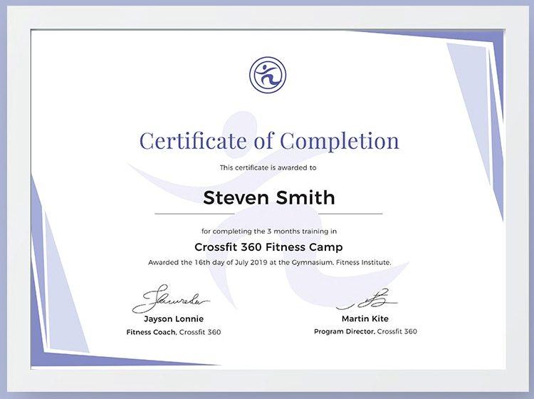 Desain template sertifikat pelatihan