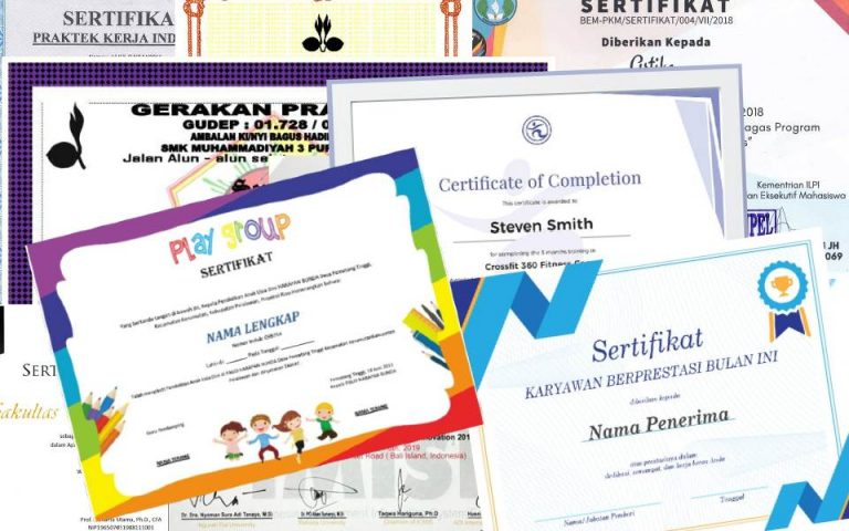 contoh bingkai background sertifikat serbabisnis