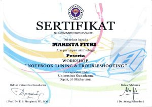 sertifikat workshop notebook tuning & troubleshooting