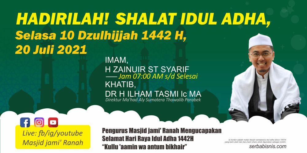 Banner Sholat Idul Adha - 1442H 2021 - Serbabisnis.com