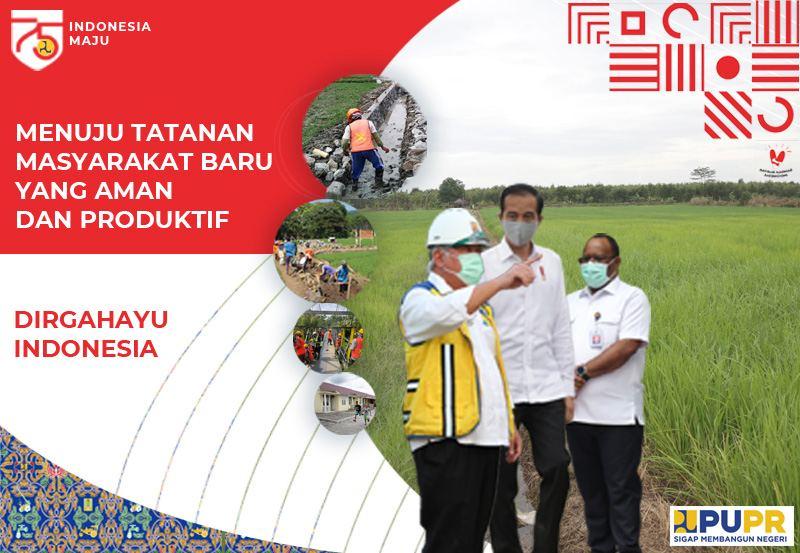 Banner 17 Agustus Kementerian PU