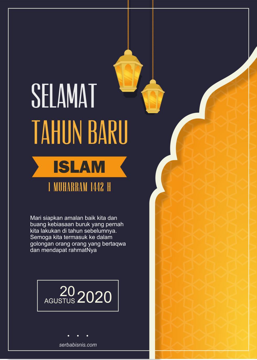 Poster Selamat Tahun Baru Islam Serbabisnis