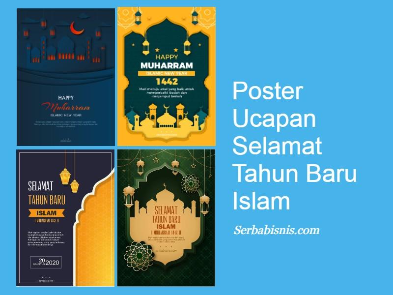 Poster Ucapan Tahun Baru Islam Serbabisnis
