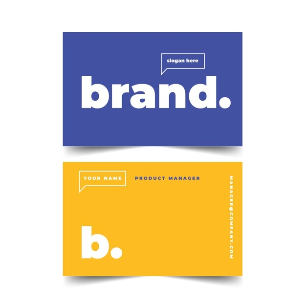 colorful minimal business card