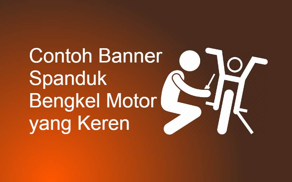 Contoh Banner Spanduk Bengkel Motor