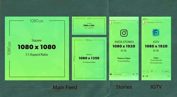 ukuran feed dan story instagram