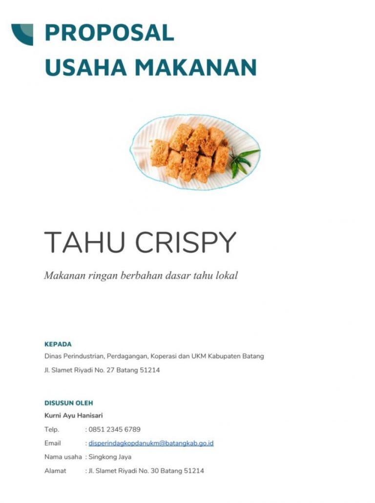Cover Proposal Usaha Makanan