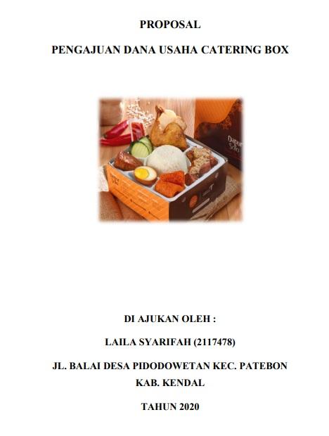 Contoh Proposal Usaha Makanan