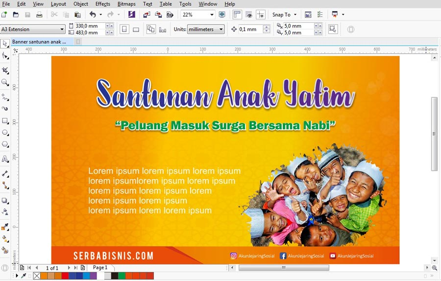 Banner Spnduk Santunan Anak Yatim Featured