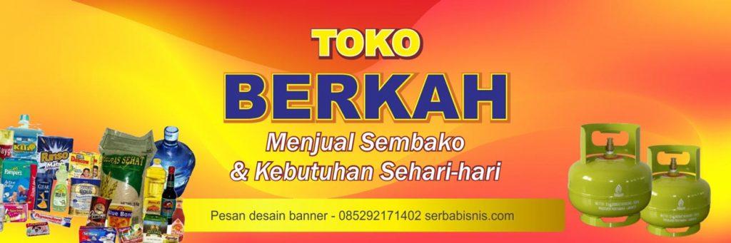 Banner Toko Sembako Warung Kelontong