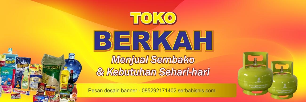 Banner Toko Sembako Warung Kelontong - SerbaBisnis
