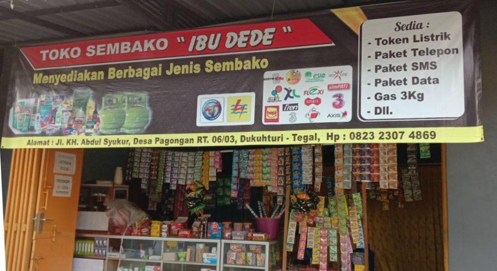 Banner toko sembako dan pulsa