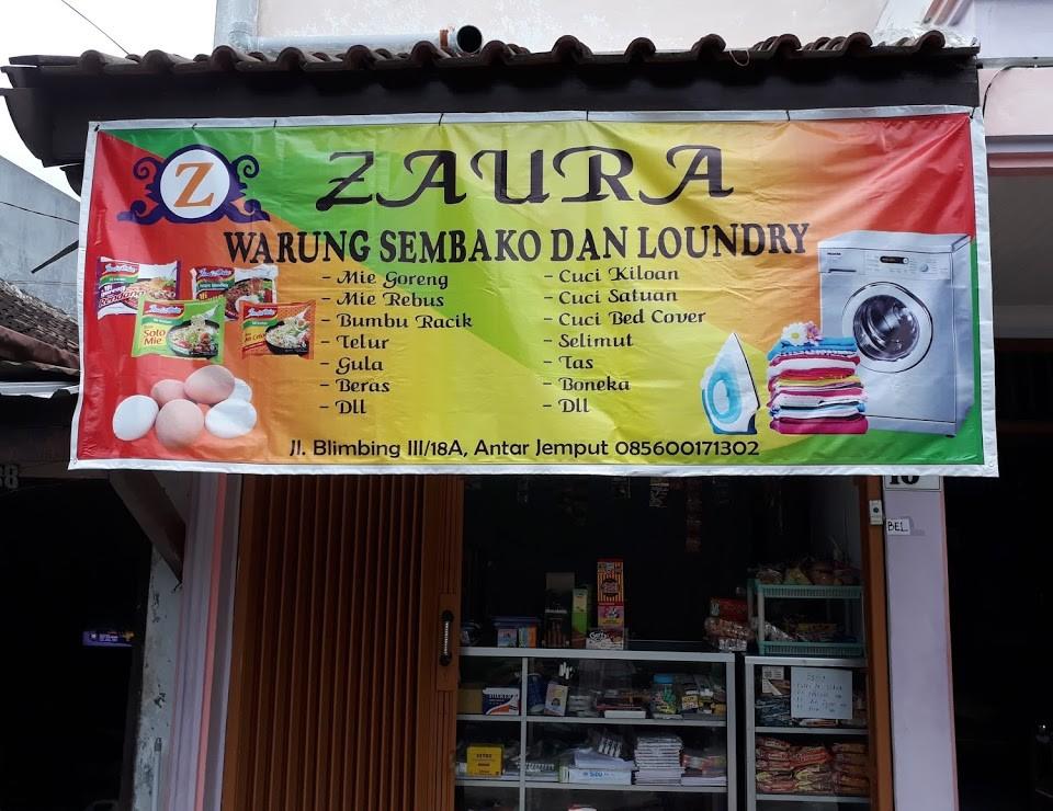 Banner warung sembako dan laundry