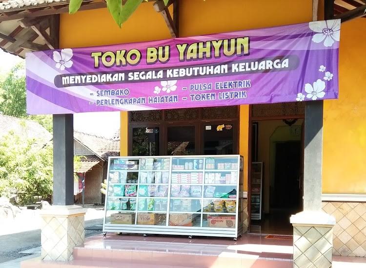 Spanduk Toko Sembako Background Ungu