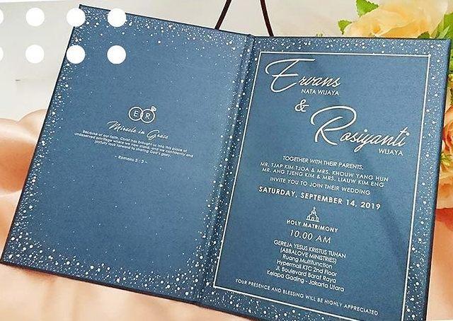 Undangan Pernikahan Kristen Lipat Dua