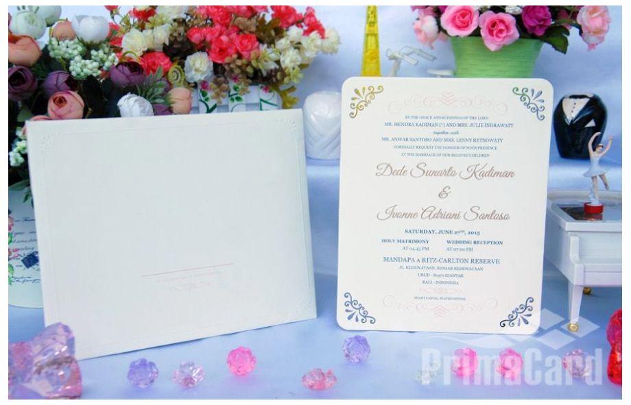 Undangan Pernikahan Single Board Simple dan Elegan