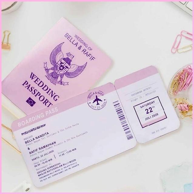 Undangan Unik Wedding Passport