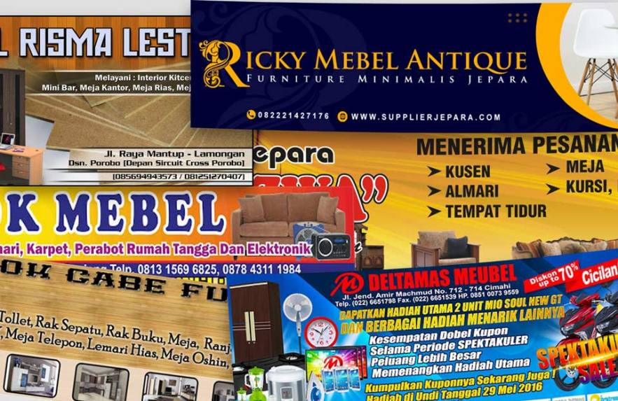 Banner Toko Mebel Furniture