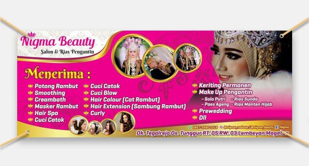 Banner Nigma Beauty Salon dan Rias Pengantin