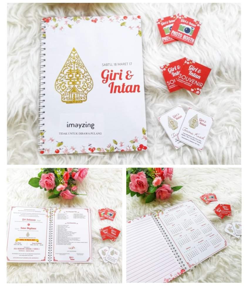 Undangan Pernikahan Buku Notebook