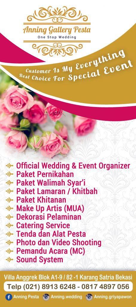X banner Anning Wedding Organizer